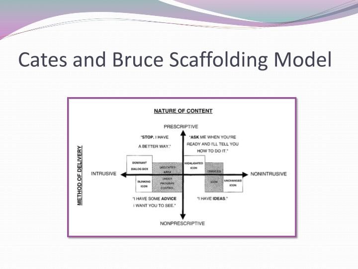 Cates and bruce scaffolding model
