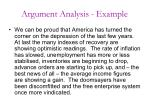 argument analysis example