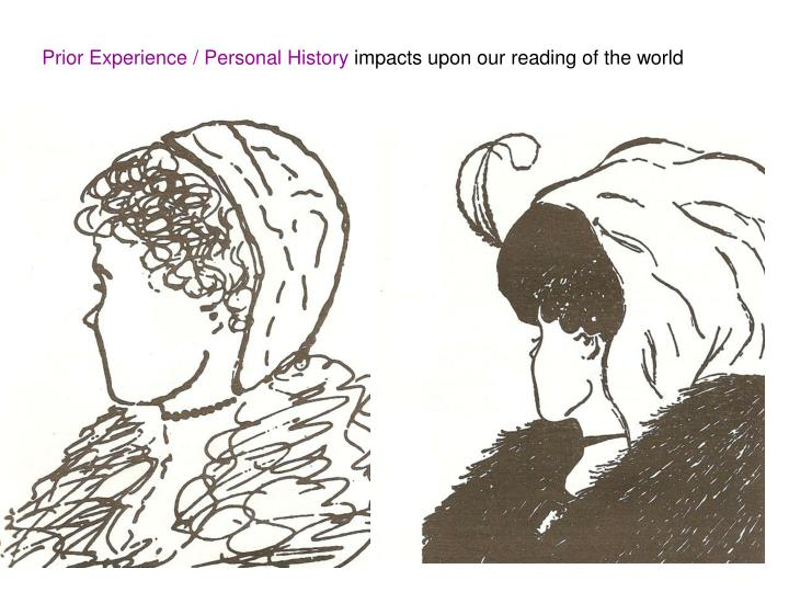 Prior Experience / Personal History