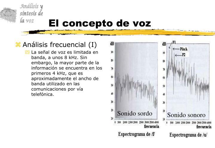 El concepto de voz