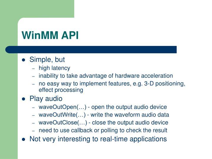 WinMM API