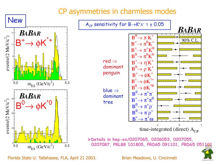 CP asymmetries in charmless modes