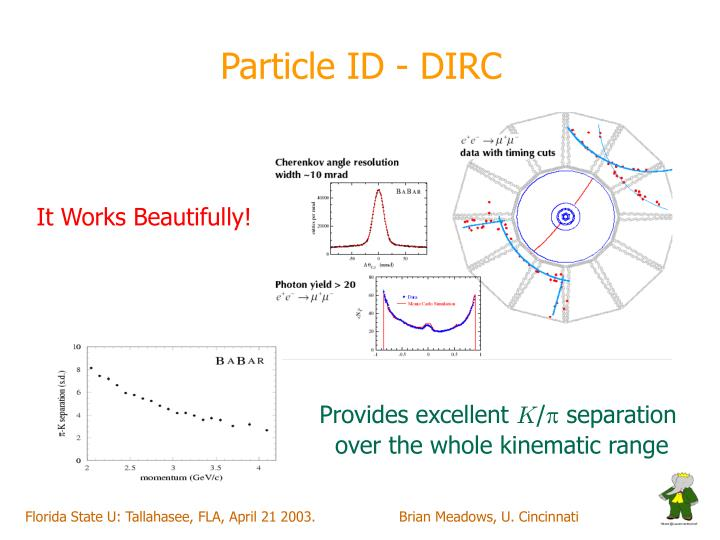 Particle ID - DIRC