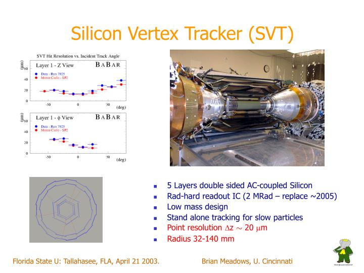 Silicon Vertex Tracker (SVT)