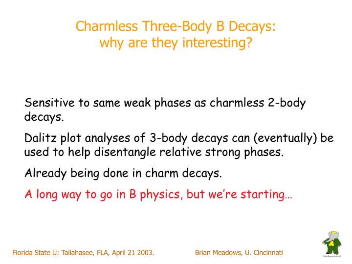 Charmless Three-Body B Decays: