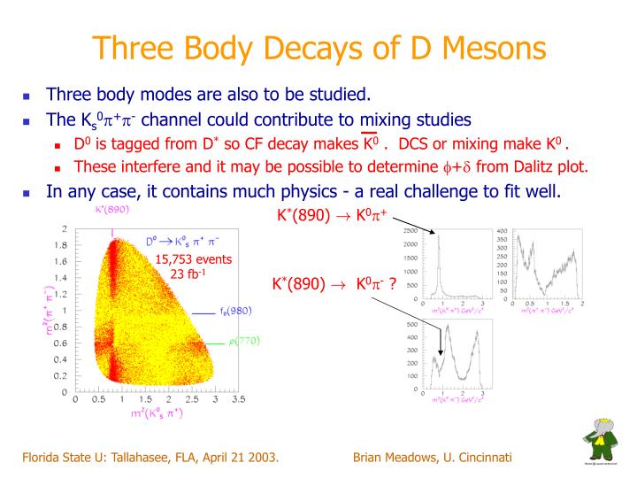 Three Body Decays of D Mesons