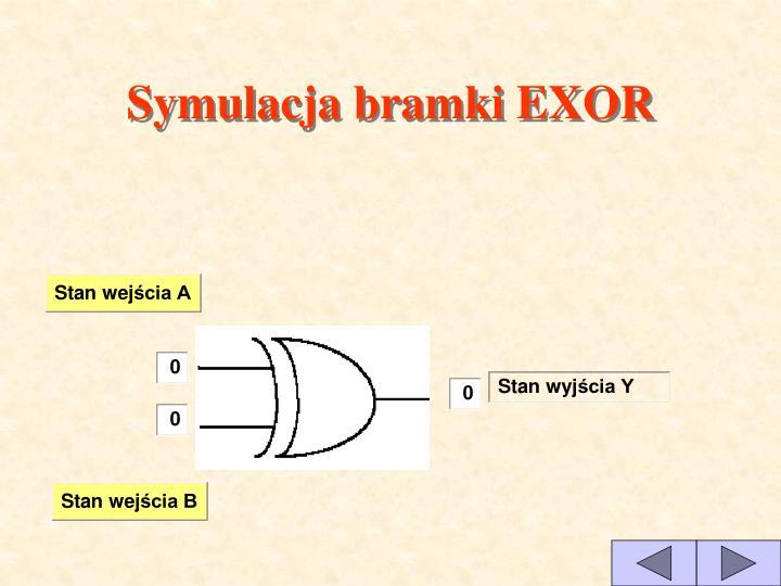 Symulacja bramki EXOR
