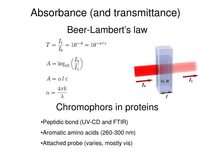 beer lambert law derivation pdf