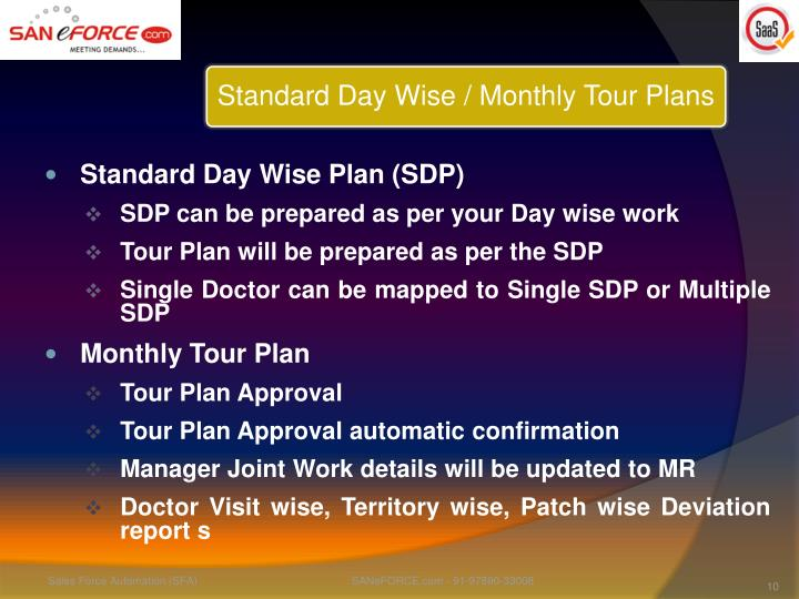 Standard Day Wise Plan (SDP)