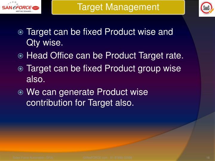 Target Management