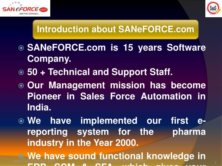 SANeFORCE.com is 15 years Software Company.
