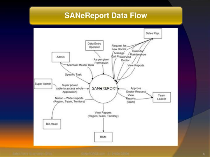 SANeReport Data Flow