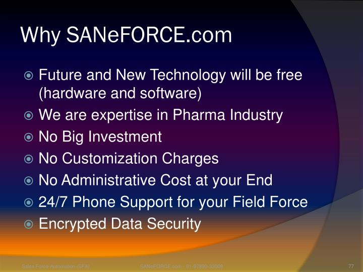 Why SANeFORCE.com