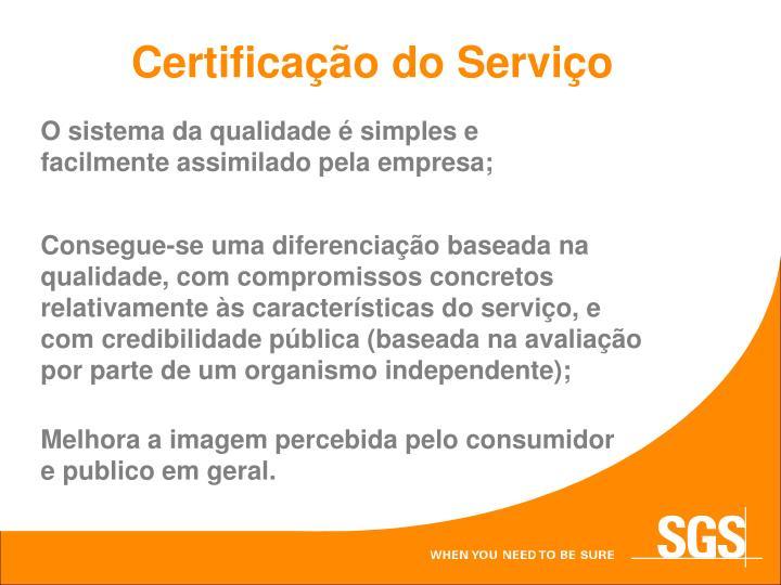 Certificação do Serviço