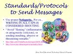 standards protocols to send messages
