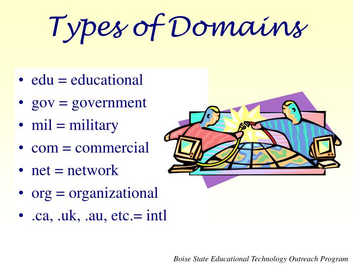 Types of Domains
