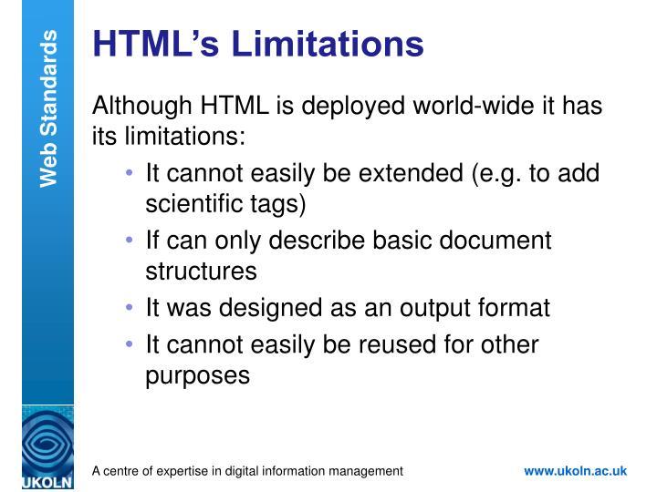 HTML's Limitations