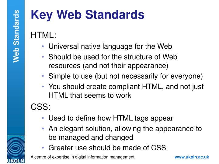 Key Web Standards