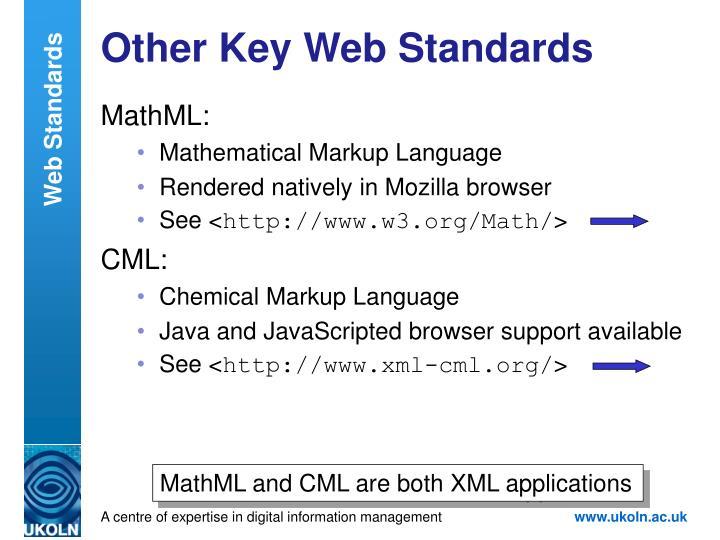 Other Key Web Standards
