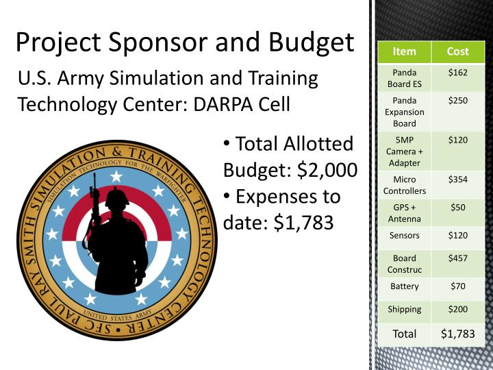 U.S. Army Simulation and Training Technology Center: DARPA Cell