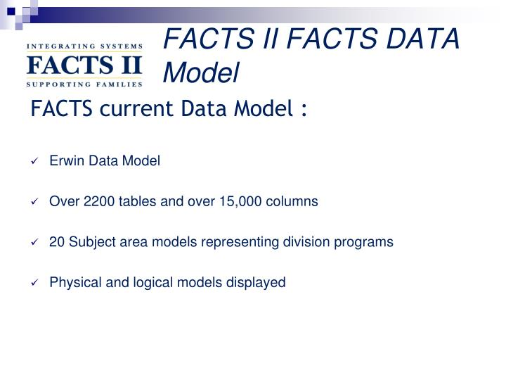 FACTS II FACTS DATA Model
