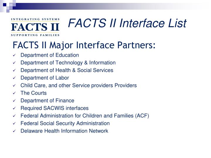 FACTS II Interface List