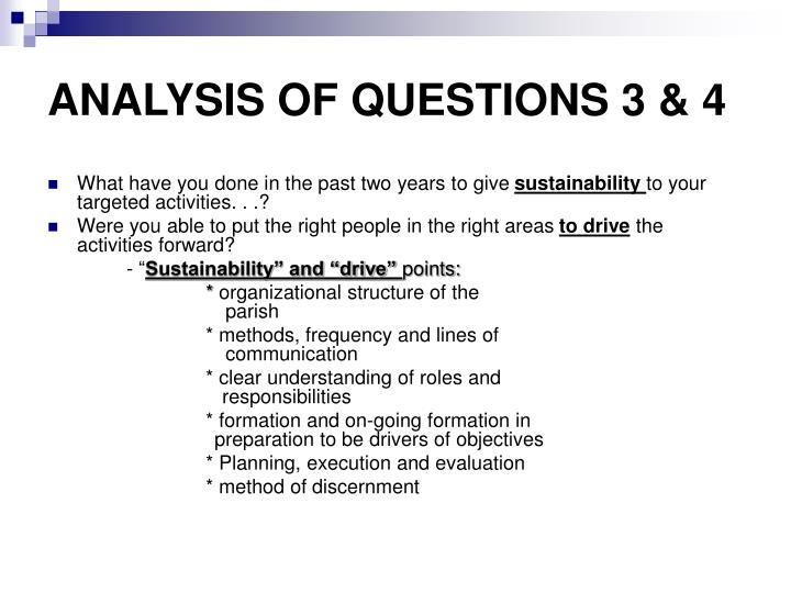 ANALYSIS OF QUESTIONS 3 & 4