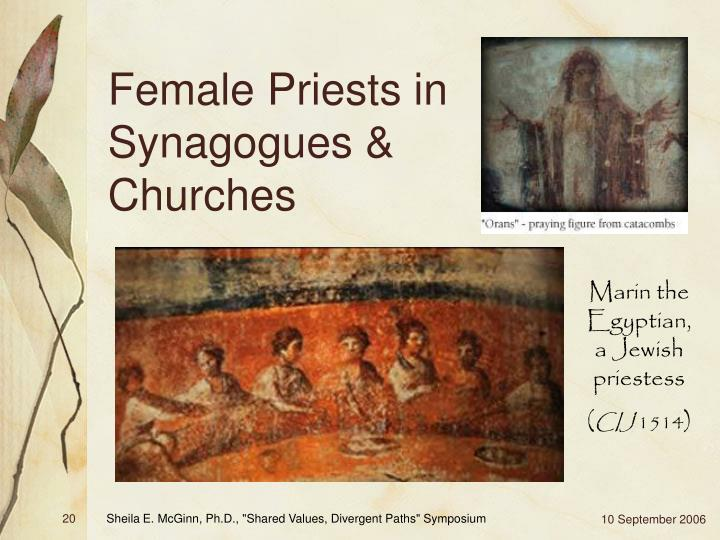 Female Priests in Synagogues & Churches