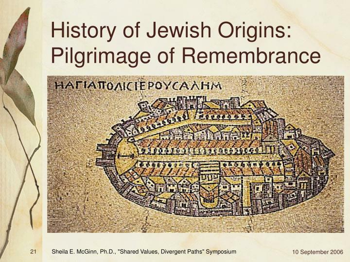 History of Jewish Origins: Pilgrimage of Remembrance
