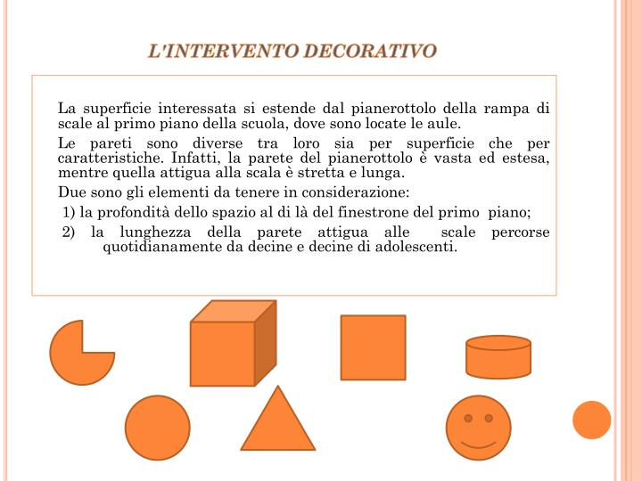 L'INTERVENTO DECORATIVO