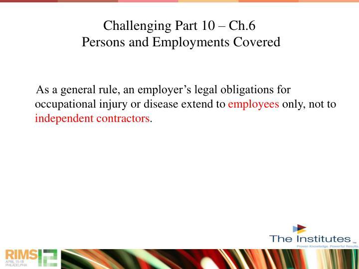 Challenging Part 10 – Ch.6