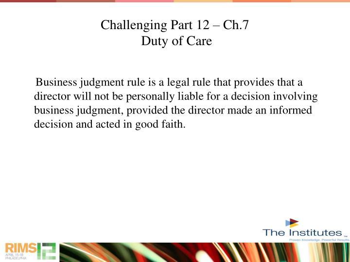 Challenging Part 12 – Ch.7