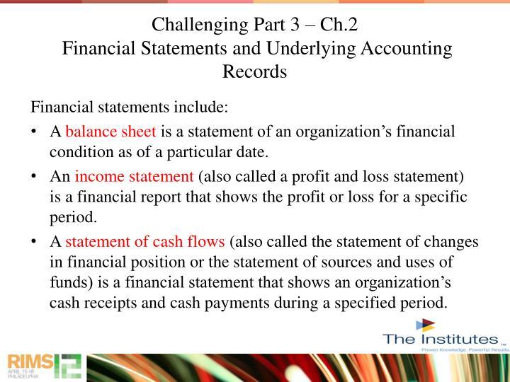 Challenging Part 3 – Ch.2