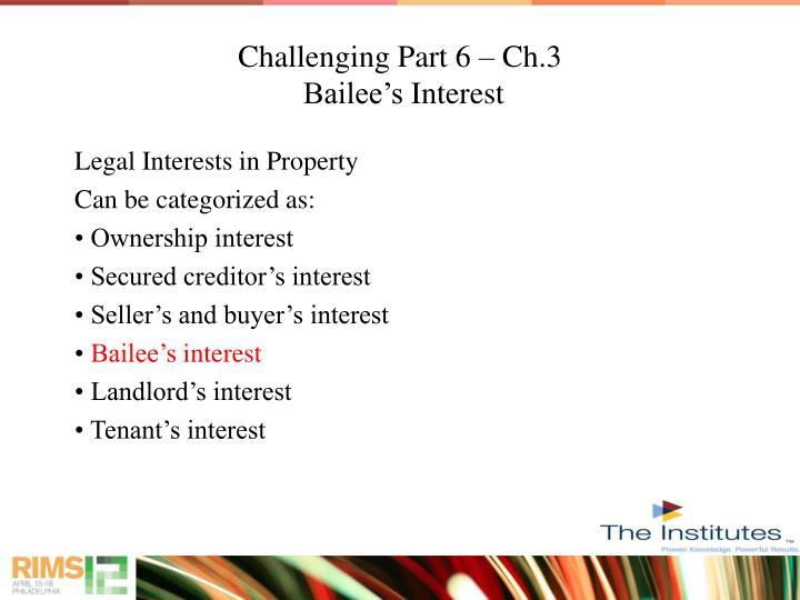 Challenging Part 6 – Ch.3