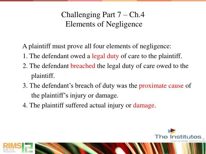 Challenging Part 7 – Ch.4