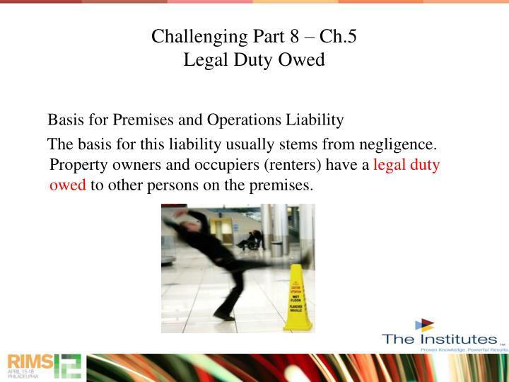 Challenging Part 8 – Ch.5