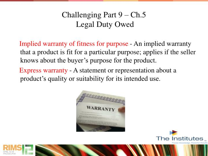 Challenging Part 9 – Ch.5