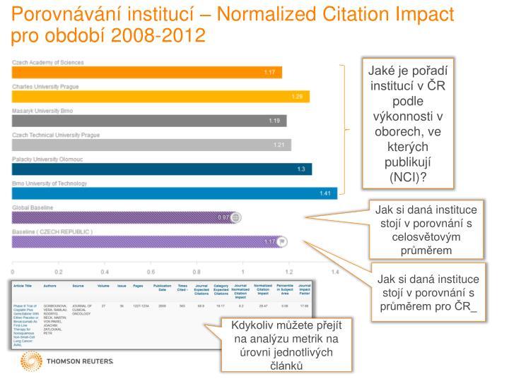 Porovnávání institucí