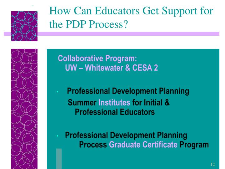 How Can Educators Get Support for the PDP Process?