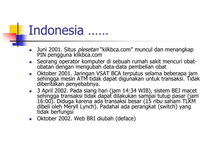Indonesia ……