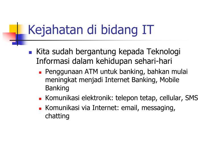 Kejahatan di bidang IT