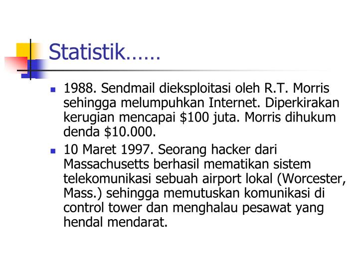 Statistik……