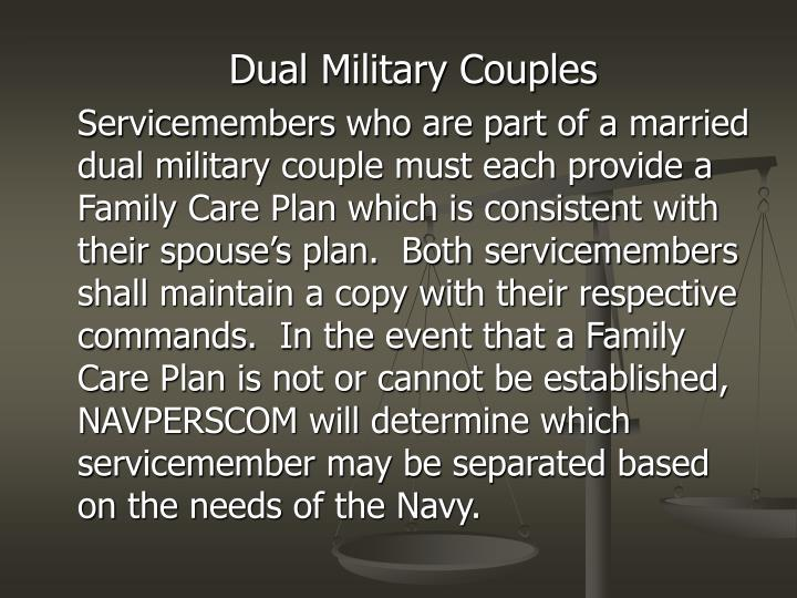 Dual Military Couples