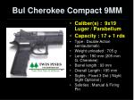 bul cherokee compact 9mm