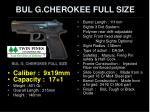 bul g cherokee full size