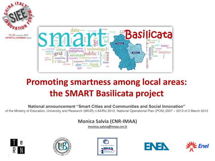 Promoting smartness among local areas: