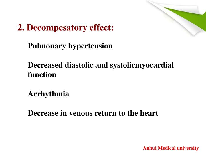 2. Decompesatory effect: