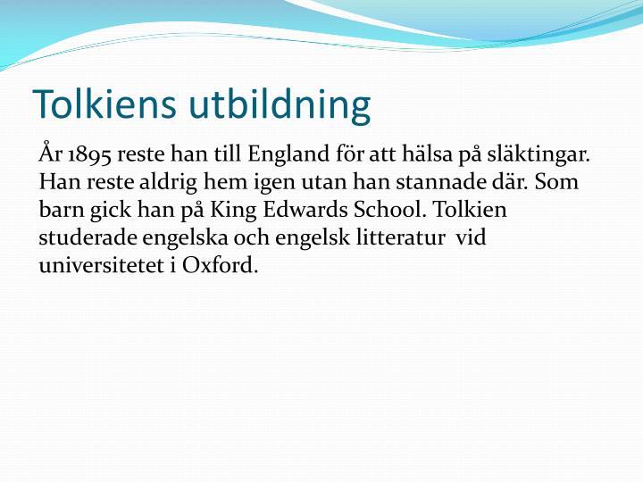 Tolkiens utbildning