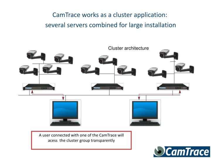 CamTrace works as a cluster application: