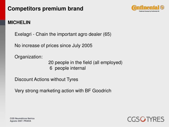 Competitors premium brand